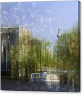City-art Berlin River Spree Canvas Print