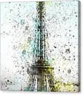 City-art Paris Eiffel Tower II Canvas Print