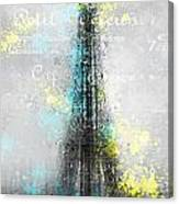 City-art Paris Eiffel Tower Letters Canvas Print