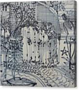 City Doodle Canvas Print