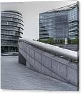 City Hall And The Shard Hms Belfast Thames London Canvas Print