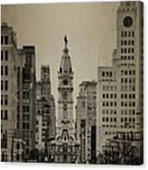 City Hall From North Broad Street Philadelphia Canvas Print