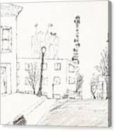 City Street - Sketch Canvas Print