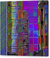 City Windows Abstract Pop Art Colors Canvas Print