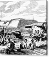 Civil War Battery Scene Canvas Print