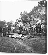 Civil War Burial, 1864 Canvas Print