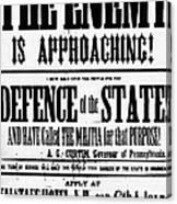 Civil War: Lees Campaign Canvas Print