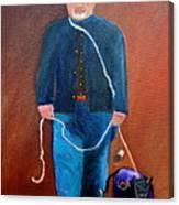 Civil War Reenactor Canvas Print