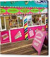 Clacton Pier Shop Canvas Print