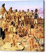 Clark Meets Northwest Indians Canvas Print