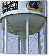 Clarksdale Water Tower Canvas Print