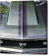 Classic Camaro Ss Hood Cowl Canvas Print