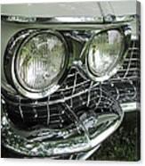 Classic Car - White Grill 1 Canvas Print