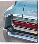 Classic Car Aqua Holiday Canvas Print