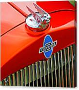 Classic Chevrolet Hood And Grill Canvas Print