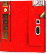 Classic Coke Dispenser Machine . Type 2 . Long Cut Canvas Print