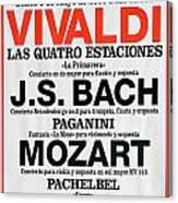 Classical Concert Poster Canvas Print
