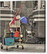 Cleaning Equipment Canvas Print