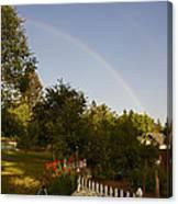 Clear Sky Rainbow Canvas Print