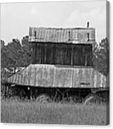 Clewis Family Tobacco Barn II In Black And White Canvas Print