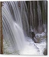 Cliff Falls In Maple Ridge Canvas Print