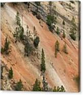 Cliff Side Grand Canyon Colors Vertical Canvas Print