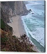 Cliffs And Surf On The California Coast Canvas Print