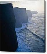 Cliffs Of Moher,co Clare,irelandview Of Canvas Print