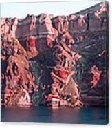 Cliffs Of Santorini Canvas Print