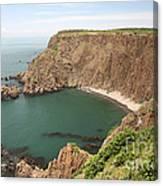 Cliffs On Grand Manan Island Canvas Print