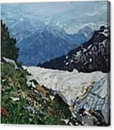 Climbing Mount Rainier Canvas Print