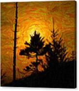 Clingmans Dome Sun Spot Canvas Print