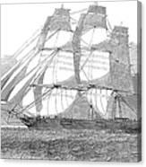 Clipper Ship, 1850 Canvas Print