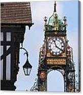 Clock In Chester Canvas Print