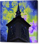 Clock Tower Night Canvas Print