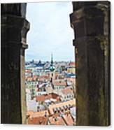 Clock Tower View - Prague Canvas Print
