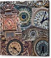 Clocks Of Paris Canvas Print