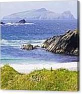 Clogher Beach, Blasket Islands, Dingle Canvas Print