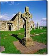Clonmacnoise, Co Offaly, Ireland High Canvas Print