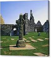 Clonmacnoise, Co Offaly, Ireland, West Canvas Print
