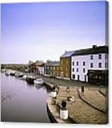 Cloondara, Co Longford, Ireland Town At Canvas Print