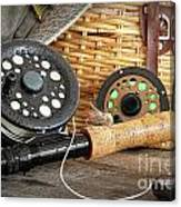 Close-up Fly Fishing Rod  Canvas Print