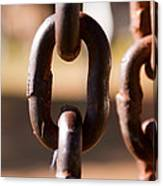 Close Up Of A Chain Link Canvas Print