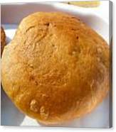 Close Up Of An Indian Food Delicacy Kachori Canvas Print