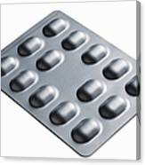 Close Up Of Blister Pack Of Pills Canvas Print