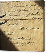 Close-up Of Emancipation Proclamation Canvas Print