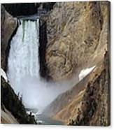 Close Up Of Lower Falls Canvas Print