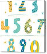 Close-up Of Numbers Canvas Print