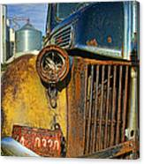 Close Up Of Rusty Truck Canvas Print
