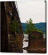 Close Up Of The Bridge Over The River Canvas Print